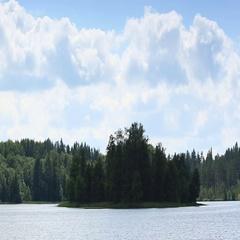 Mist over the lake Moiseevskoe, Valdaysky district, Novgorod region, Russia.  Stock Footage