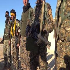 Syria - November 2016: Rakku - offensive, ISIS war, SDF Stock Footage