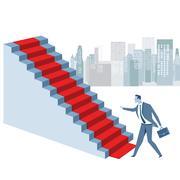 Red carpet, career rise Stock Illustration
