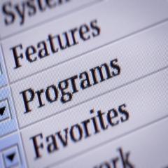 Programs. Looping. My own design of program menu. Stock Footage