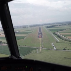 Runway In Sight Stock Footage