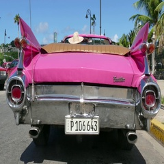 Vintage Car Old Classic Taxi For Tourism In Havana Cuba Stock Footage