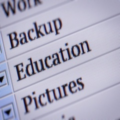 Education. Looping. My own design of program menu. Stock Footage