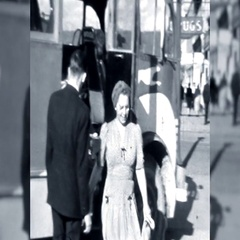 Happy Woman Gets Off Greyhound Bus 1940s Vintage Film Home Movie 10646 Stock Footage