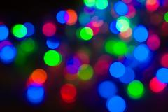Multicolored blurry lights at night Stock Photos
