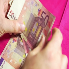 4k EUro european currency cash Stock Footage