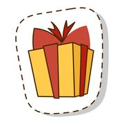 Gift box vector icon isolated Stock Illustration