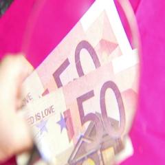 4k EUro up close cash european money Stock Footage