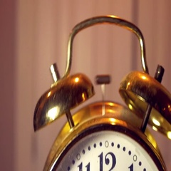 Alarm clock ring alarming Stock Footage