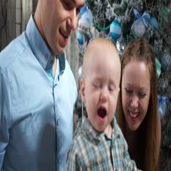 Closeup happy family shouts of joy Stock Footage