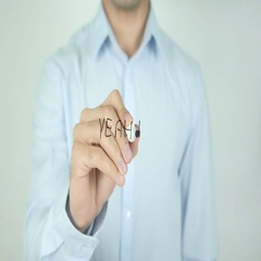 Yeah!, Writing On Transparent Screen Stock Footage