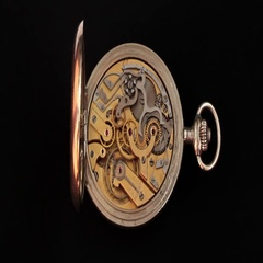 The Chronograph Movement On A Black Background Stock Footage