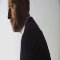 Fashionable man, the businessman turns forward closeup Stock Footage