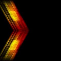 Tech red orange arrow motion effect video animation Stock Footage