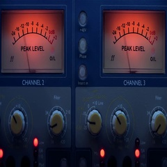 VU meter 120 bmp in a recording studio Stock Footage