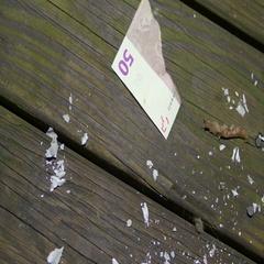Burned up cash used euros Stock Footage