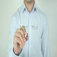 Boost Your Business, Writing On Screen Stock Footage