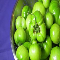 Green tomatoes tomatos tomato Stock Footage