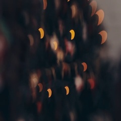 New Year lights in bokeh in the form of a crescent moon Stock Footage