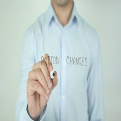 Action Changes Things, Act, Writing On Screen Stock Footage
