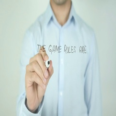 The Game Rules Are Changing, Man Writing on Screen Stock Footage