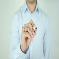Tax Included, Writing On Transparent Screen Stock Footage