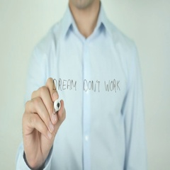 Dream Don't Work Until You Do, Writing On Screen Stock Footage