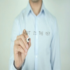 What Is The Key To Success?, Writing On Transparent Screen Stock Footage