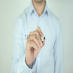 Tax Recepit, Writing On Transparent Screen Stock Footage