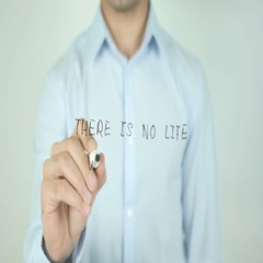 There Is No Life Without Love, Writing On Transparent Screen Stock Footage