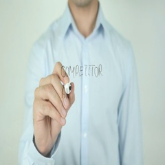 Competitor Analysis, Writing On Screen Stock Footage