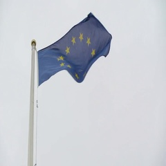 The closer look of the Europian Union flag Stock Footage