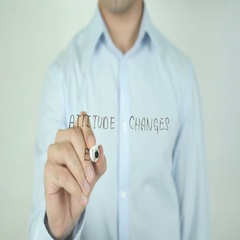 Attitude Changes Everything, Writing On Screen Stock Footage