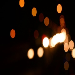 Defocussed Night Traffic Lights In The City Stock Footage