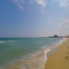 Half Empty Beach In Best Condition Stock Footage
