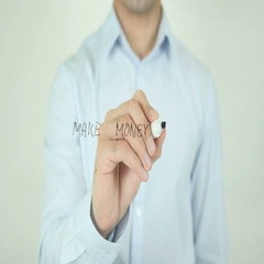 Make Money Online, Writing On Screen Stock Footage