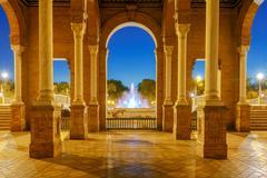 Spanish Square in Sevilla. Stock Photos