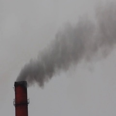Smoke from factory chimneys Stock Footage