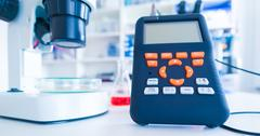 Device for measuring the content of harmful substances in food Stock Photos