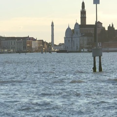 Venice View to Murano Stock Footage