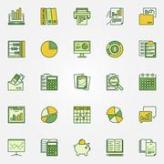 Colorful accounting icons Stock Illustration