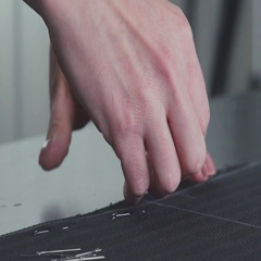 Close-up of the hands of a seamstress. Hand-made Stock Footage