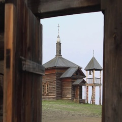 Russian Museum village Stock Footage