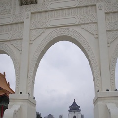 Chiang Kai-Shek Memorial Gate in Taipei, Taiwan Stock Footage