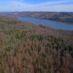 Aerial upstate New York November Stock Footage