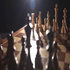 Play chess. Go figure a pawn Stock Footage