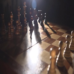 Play chess  Pieces on the chessboard Stock Footage