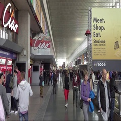 Rome Central Station - Termini Stock Footage