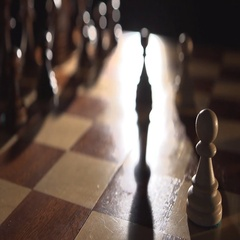 Play chess Bishop Stock Footage