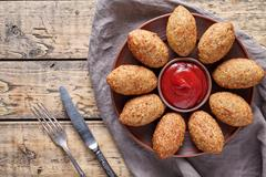 Kibbeh traditional middle eastern arabic lamb meat and bulgur kofta spicy Stock Photos
